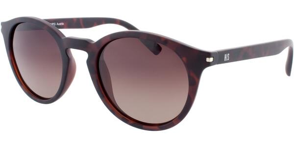 Sluneční brýle HIS model 78111, barva obruby hnědá mat, čočka hnědá gradál polarizovaná, kód barevné varianty 1.