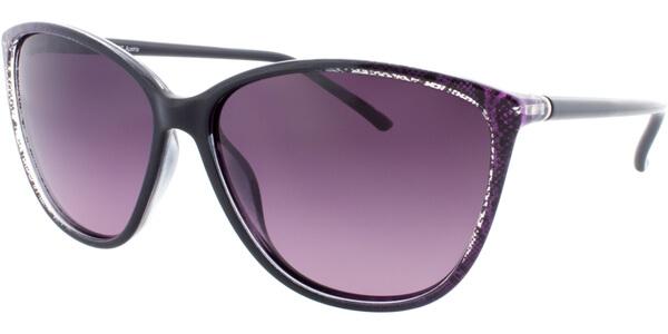 Sluneční brýle HIS model 78112, barva obruby černá lesk fialová, čočka fialová gradál polarizovaná, kód barevné varianty 1.