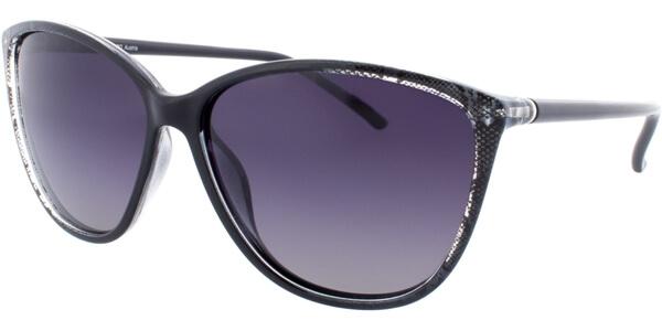 Sluneční brýle HIS model 78112, barva obruby černá čirá lesk černá, čočka šedá gradál polarizovaná, kód barevné varianty 2.