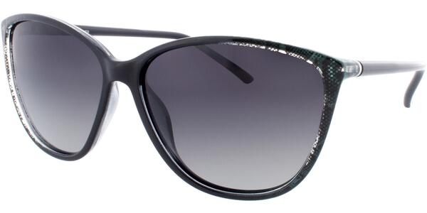 Sluneční brýle HIS model 78112, barva obruby černá lesk zelená, čočka zelená gradál polarizovaná, kód barevné varianty 3.