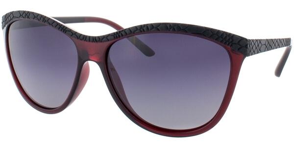 Sluneční brýle HIS model 78115, barva obruby černá mat vínová, čočka šedá gradál polarizovaná, kód barevné varianty 2.