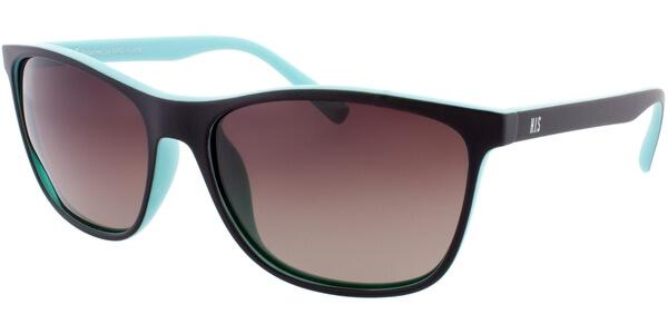 Sluneční brýle HIS model 78122, barva obruby hnědá mat tyrkysová, čočka hnědá gradál polarizovaná, kód barevné varianty 3.