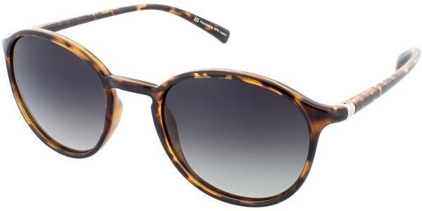 Sluneční brýle HIS model 78124, barva obruby hnědá lesk, čočka zelená gradál polarizovaná, kód barevné varianty 1.