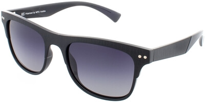 Sluneční brýle HIS model 78125, barva obruby černá mat, čočka šedá gradál polarizovaná, kód barevné varianty 1.