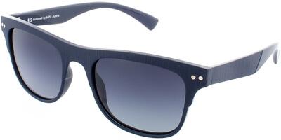 Sluneční brýle HIS model 78125, barva obruby modrá mat, čočka modrá gradál polarizovaná, kód barevné varianty 2.