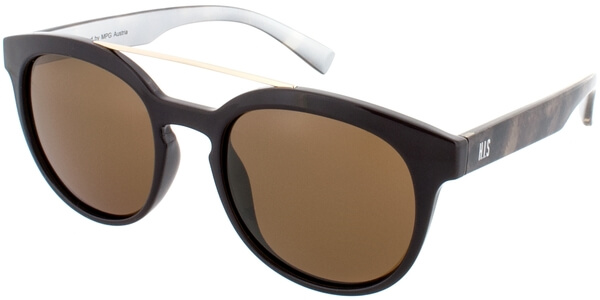 Sluneční brýle HIS model 78128, barva obruby hnědá lesk zlatá, čočka hnědá polarizovaná, kód barevné varianty 2.