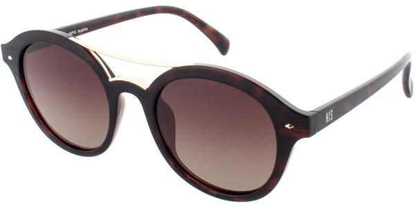 Sluneční brýle HIS model 78131, barva obruby hnědá lesk zlatá, čočka hnědá gradál polarizovaná, kód barevné varianty 2.