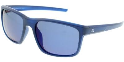 Sluneční brýle HIS model 87100, barva obruby modrá mat, čočka modrá zrcadlo polarizovaná, kód barevné varianty 3.