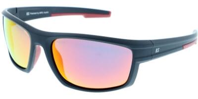 Sluneční brýle HIS model 87101, barva obruby černá mat červená, čočka červená zrcadlo polarizovaná, kód barevné varianty 1.