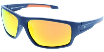 Sluneční brýle HIS model 87104, barva obruby modrá mat oranžová, čočka oranžová zrcadlo polarizovaná, kód barevné varianty 2.