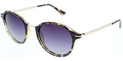 Sluneční brýle HIS model 88101, barva obruby hnědá lesk zlatá, čočka fialová gradál polarizovaná, kód barevné varianty 5.