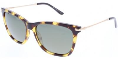 Sluneční brýle HIS model 88104, barva obruby hnědá lesk žlutá, čočka zelená gradál polarizovaná, kód barevné varianty 2.