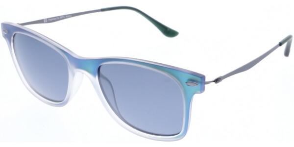 Sluneční brýle HIS model 88115, barva obruby modrá mat zelená, čočka šedá polarizovaná, kód barevné varianty 3.