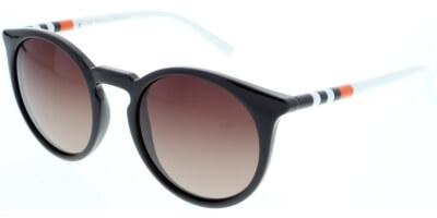 Sluneční brýle HIS model 88117, barva obruby hnědá lesk bílá, čočka fialová gradál polarizovaná, kód barevné varianty 4.