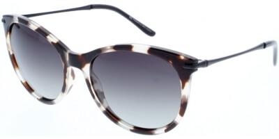 Sluneční brýle HIS model 88121, barva obruby hnědá lesk čirá, čočka fialová gradál polarizovaná, kód barevné varianty 2.