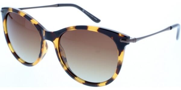 Sluneční brýle HIS model 88121, barva obruby hnědá lesk žlutá, čočka hnědá gradál polarizovaná, kód barevné varianty 3.