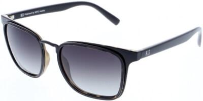 Sluneční brýle HIS model 88123, barva obruby černá lesk šedá, čočka hnědá gradál polarizovaná, kód barevné varianty 2.
