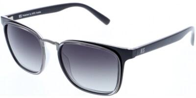 Sluneční brýle HIS model 88123, barva obruby černá lesk, čočka fialová gradál polarizovaná, kód barevné varianty 3.
