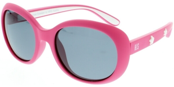 Sluneční brýle HIS model 90103, barva obruby růžová mat bílá, čočka šedá polarizovaná, kód barevné varianty 1.