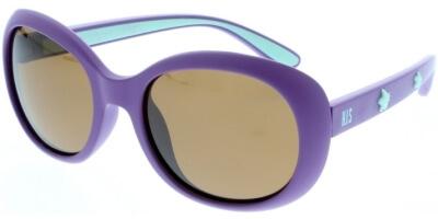 Sluneční brýle HIS model 90103, barva obruby fialová mat modrá, čočka hnědá polarizovaná, kód barevné varianty 3.