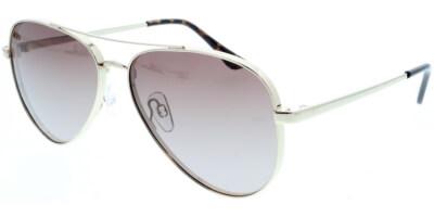 Sluneční brýle HIS model 94105, barva obruby zlatá lesk, čočka hnědá gradál polarizovaná, kód barevné varianty 1.