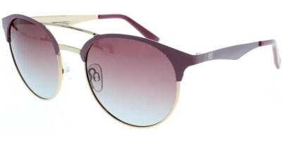 Sluneční brýle HIS model 94108, barva obruby fialová lesk zlatá, čočka hnědá gradál polarizovaná, kód barevné varianty 3.