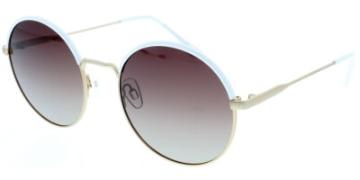 Sluneční brýle HIS model 94119, barva obruby bílá mat zlatá, čočka hnědá gradál polarizovaná, kód barevné varianty 2.