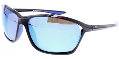 Sluneční brýle HIS model 97100, barva obruby černá lesk, čočka červená zrcadlo polarizovaná, kód barevné varianty 3.