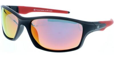 Sluneční brýle HIS model 97101, barva obruby černá mat červená, čočka červená zrcadlo polarizovaná, kód barevné varianty 2.