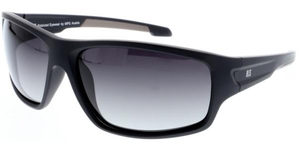 Sluneční brýle HIS model 97103, barva obruby černá mat béžová, čočka hnědá gradál polarizovaná, kód barevné varianty 1.