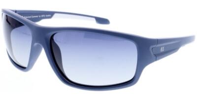 Sluneční brýle HIS model 97103, barva obruby modrá mat bílá, čočka modrá gradál polarizovaná, kód barevné varianty 2.