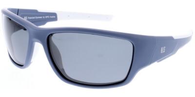 Sluneční brýle HIS model 97104, barva obruby modrá mat bílá, čočka šedá polarizovaná, kód barevné varianty 2.
