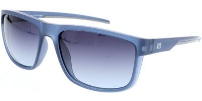Sluneční brýle HIS model 97107, barva obruby modrá mat šedá, čočka šedá gradál polarizovaná, kód barevné varianty 2.