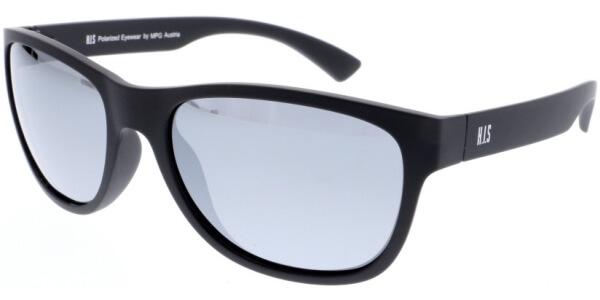 Sluneční brýle HIS model 97109, barva obruby černá mat, čočka stříbrná zrcadlo polarizovaná, kód barevné varianty 1.