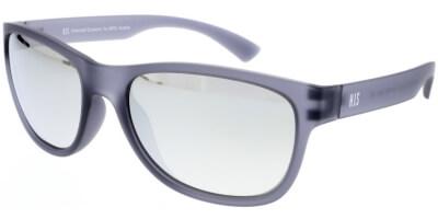 Sluneční brýle HIS model 97109, barva obruby šedá mat, čočka stříbrná zrcadlo polarizovaná, kód barevné varianty 3.