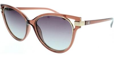 Sluneční brýle HIS model 98107, barva obruby hnědá lesk zlatá, čočka šedá gradál polarizovaná, kód barevné varianty 2.