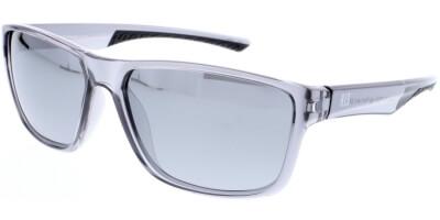Sluneční brýle HIS model 98116, barva obruby šedá lesk čirá, čočka stříbrná zrcadlo polarizovaná, kód barevné varianty 1.