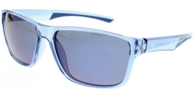 Sluneční brýle HIS model 98116, barva obruby modrá lesk čirá, čočka modrá zrcadlo polarizovaná, kód barevné varianty 2.