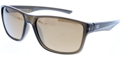 Sluneční brýle HIS model 98116, barva obruby hnědá lesk čirá, čočka zlatá zrcadlo polarizovaná, kód barevné varianty 3.