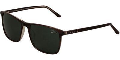 Sluneční brýle Jaguar model 37121, barva obruby hnědá lesk, čočka zelená polarizovaná, kód barevné varianty 4702.