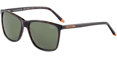 Sluneční brýle Jaguar model 37168, barva obruby hnědá lesk, čočka zelená, kód barevné varianty 8940.