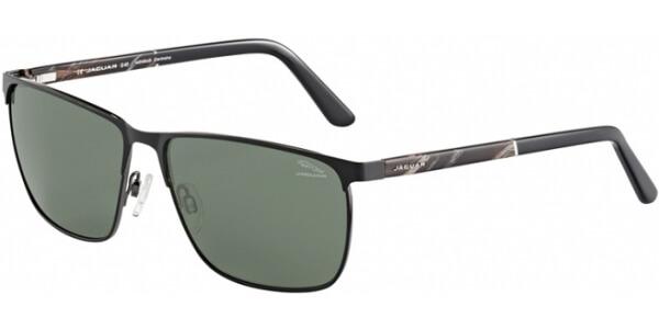 Sluneční brýle Jaguar model 37354, barva obruby černá mat hnědá, čočka zelená polarizovaná, kód barevné varianty 6100.