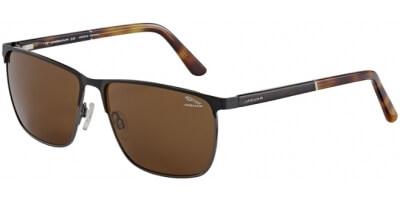 Sluneční brýle Jaguar model 37354, barva obruby černá mat hnědá, čočka hnědá, kód barevné varianty 6101.