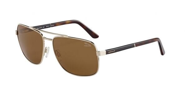 Sluneční brýle Jaguar model 37356, barva obruby zlatá lesk hnědá, čočka hnědá polarizovaná, kód barevné varianty 6000.