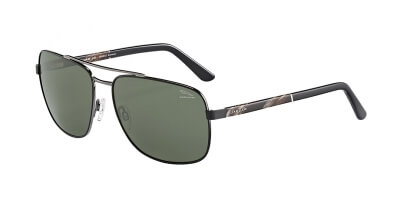 Sluneční brýle Jaguar model 37356, barva obruby černá lesk hnědá, čočka zelená polarizovaná, kód barevné varianty 6100.