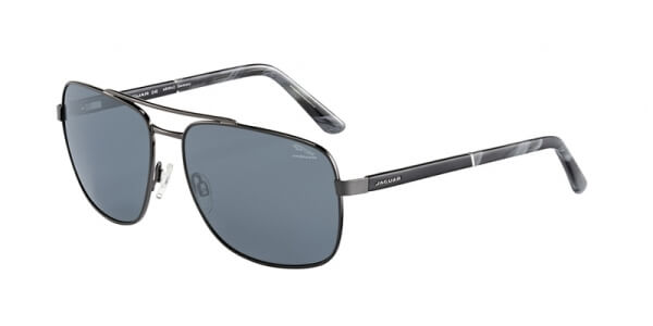 Sluneční brýle Jaguar model 37356, barva obruby černá lesk šedá, čočka šedá polarizovaná, kód barevné varianty 6500.
