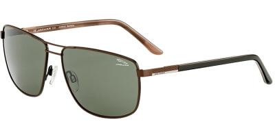 Sluneční brýle Jaguar model 37357, barva obruby hnědá mat černá, čočka zelená, kód barevné varianty 1193.