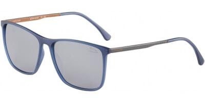 Sluneční brýle Jaguar model 37612, barva obruby modrá mat šedá, čočka šedá polarizovaná, kód barevné varianty 3100.
