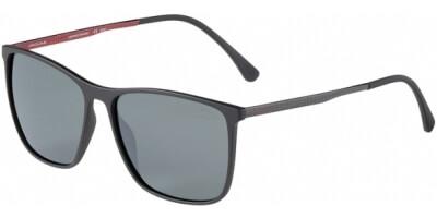 Sluneční brýle Jaguar model 37612, barva obruby černá mat šedá, čočka šedá polarizovaná, kód barevné varianty 6100.