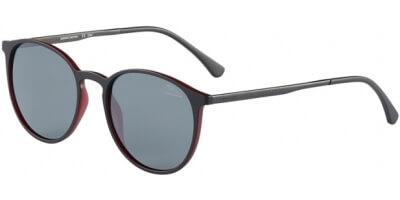 Sluneční brýle Jaguar model 37613, barva obruby černá mat červená, čočka šedá polarizovaná, kód barevné varianty 6100.